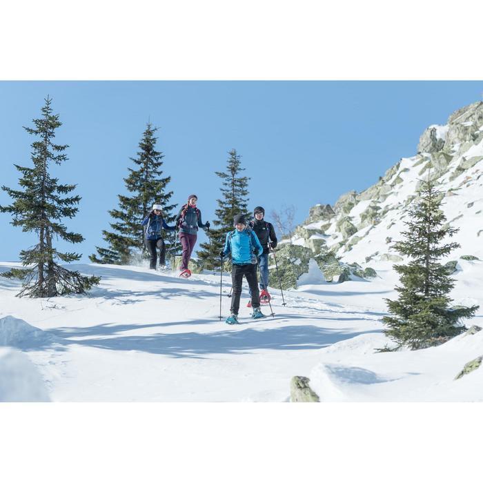 成人款極致保暖雪地健行中筒襪SH50-藍色。
