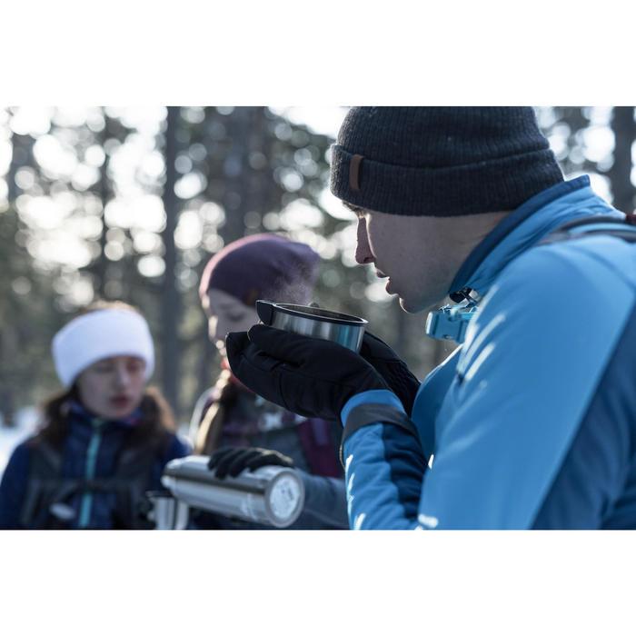 Warme hybride fleece herenjas voor sneeuwwandelen SH900 X-Warm