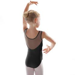 Léotard de danse classique bi-matière fille noir