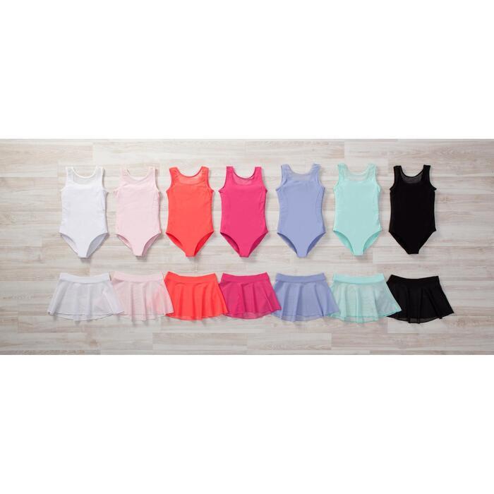 Balletpakje in twee stoffen voor meisjes roze