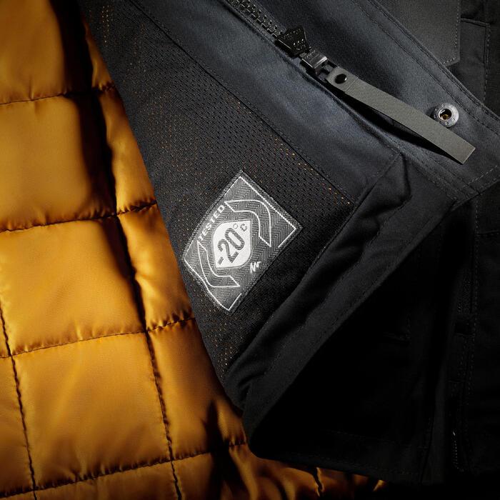 Chaqueta de senderismo nieve hombre SH500 ultra-warm negro.