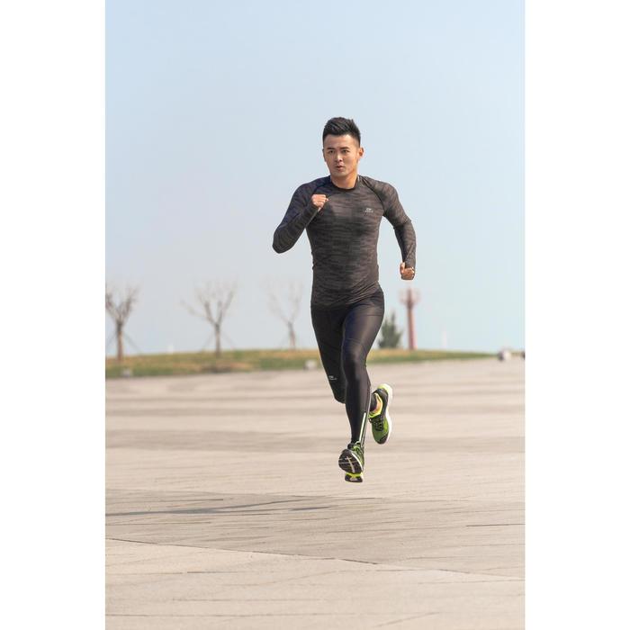 TEE SHIRT RUNNING HOMME RESPIRANT MANCHE LONGUE KIPRUN SKINCARE NOIR