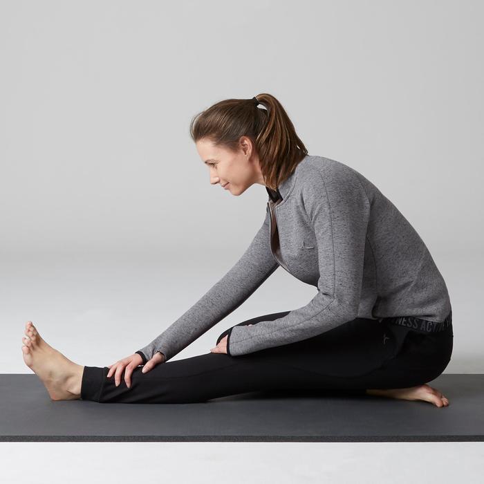 Trainingsjacke 900 Gym Stretching Damen grau
