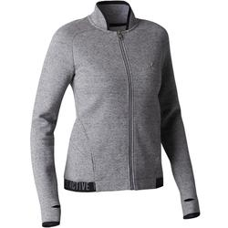 Trainingsjacke 900 Gym Stretching Damen grau
