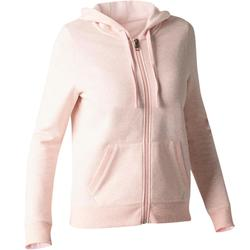 520 Women Gym Stretching Hooded Jacket - Heather Pink