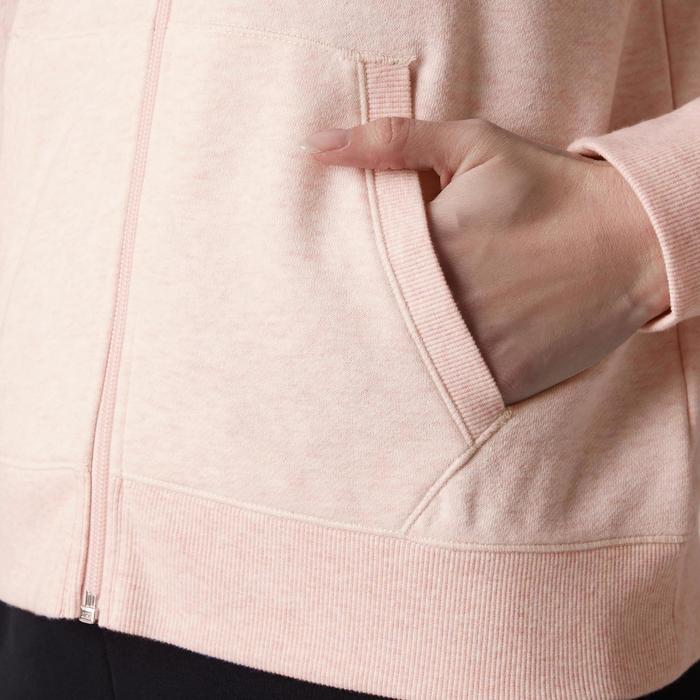 Chaqueta 520 capucha Gimnasia Stretching mujer rosa jaspeado