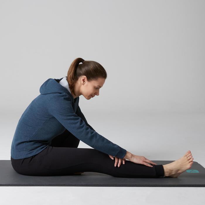Kapuzenpullover 520 Gym Stretching Damen dunkelblaumeliert