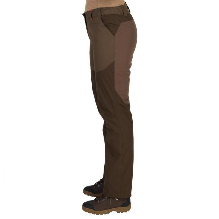 Waterdichte jachtbroek voor dames 500 bruin