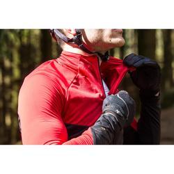 MTB-shirt XC lange mouwen heren zwart/rood