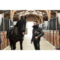 Pantalon chaud imperméable et respirant équitation homme KIPWARM noir
