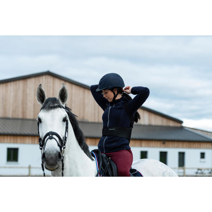 Hoofdstel ruitersport 580 Glossy zwart - maat paard