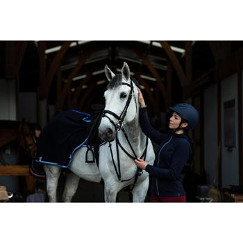 Polaire à capuche 2en1 équitation femme marine