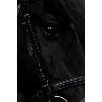 Hoofdstel ruitersport 580 GLOSSY zwart - pony