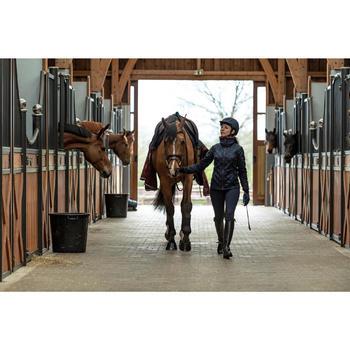Polaire équitation femme 500 WARM marine/bordeaux