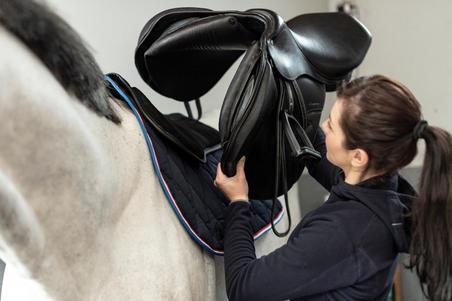 500 Horseback Riding Foam Saddle Pad for Horse and Pony - Black
