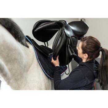 Zadelonderlegger 500 schuim ruitersport paard en pony zwart