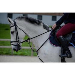 Bridon équitation 580 GLOSSY noir - taille poney