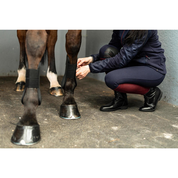 Boots à lacets chaudes équitation adulte 500 WARM noir