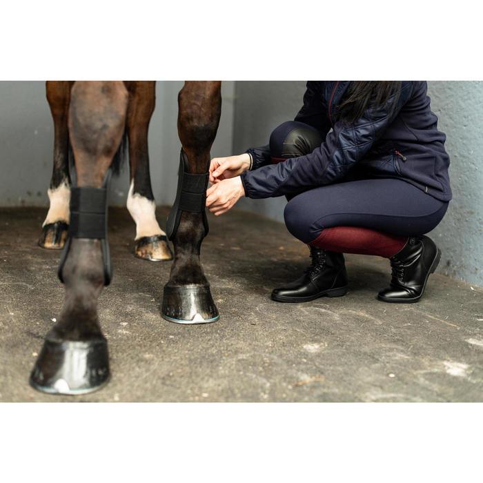 Botines cálidos con cordones equitación adulto 500 negro