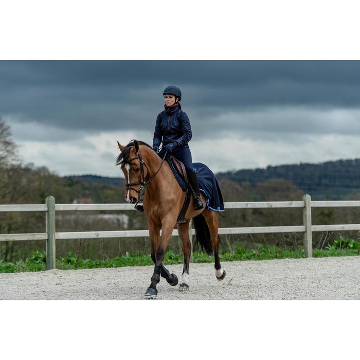 Polaire équitation femme 500 marine/bordeaux