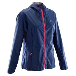 Dames regenjasje voor jogging Run Rain divablauw