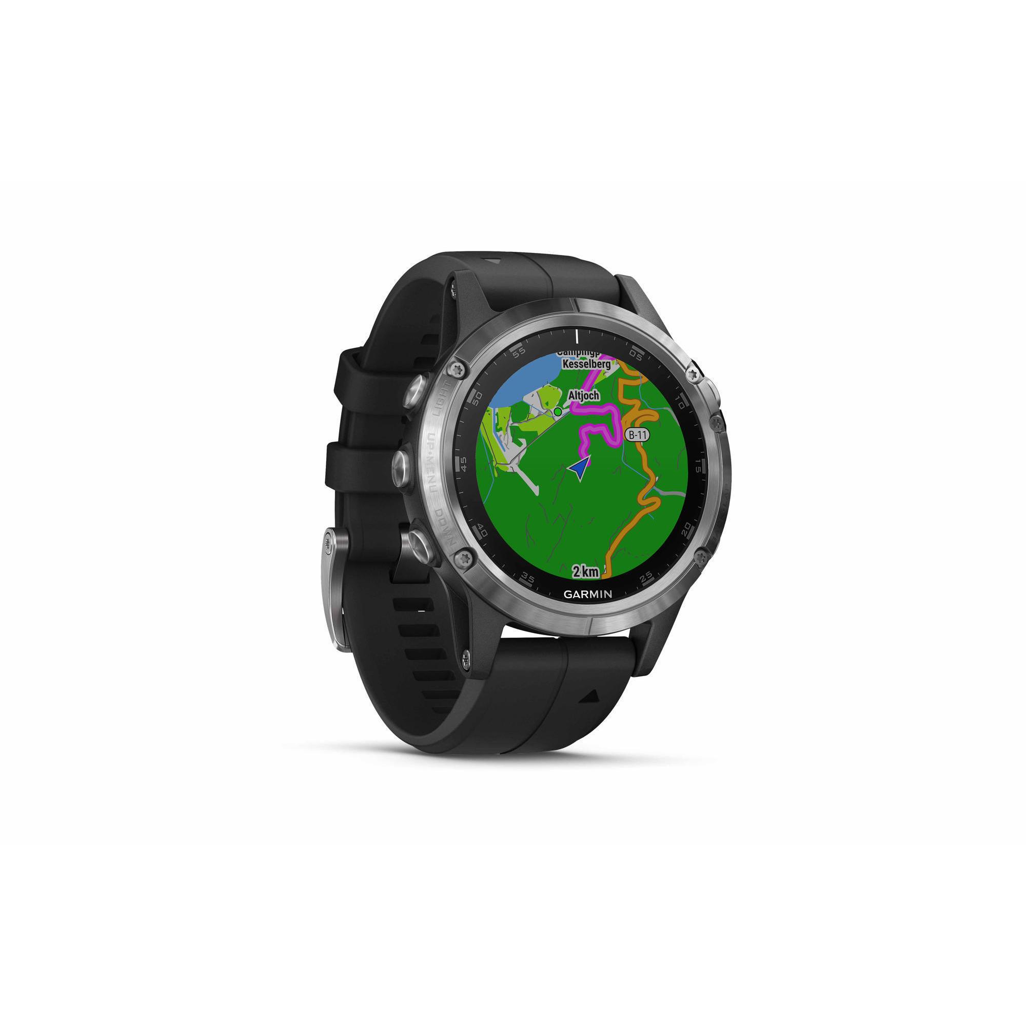 6a028cb9634e Reloj GPS Multideporte Garmin Fénix 5 Plus Silver pulsómetro en muñeca negro
