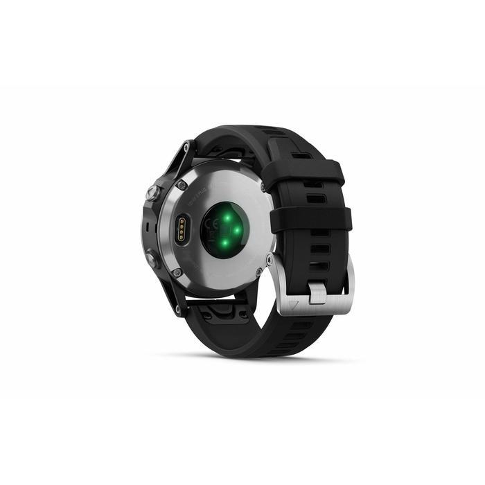 GPS-Pulsuhr und Musikplayer Cardio Fenix 5 Plus Multisport silber