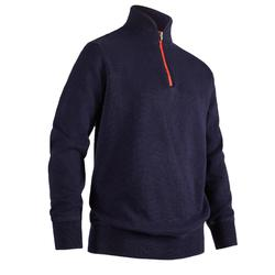 NAVY BLUE KIDS' WINDPROOF GOLF PULLOVER