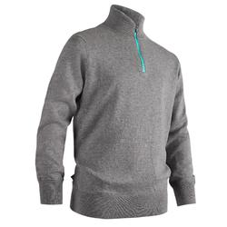 GREY KIDS' WINDPROOF GOLF PULLOVER