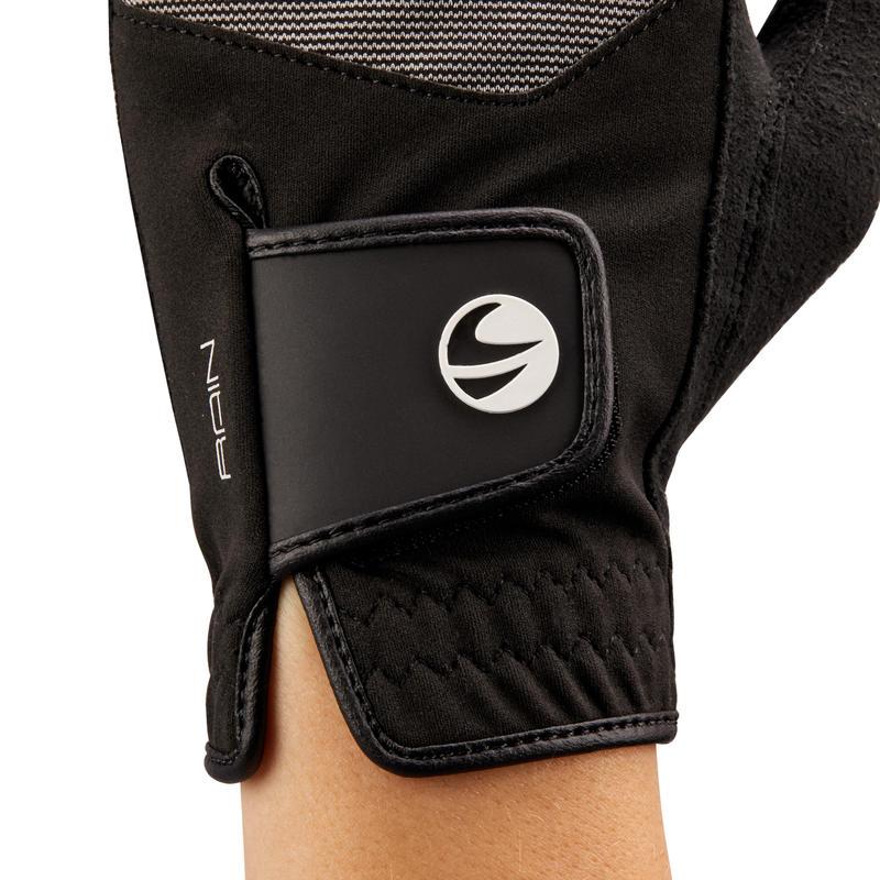 Women's Golf Right Hand Rain Glove - Black