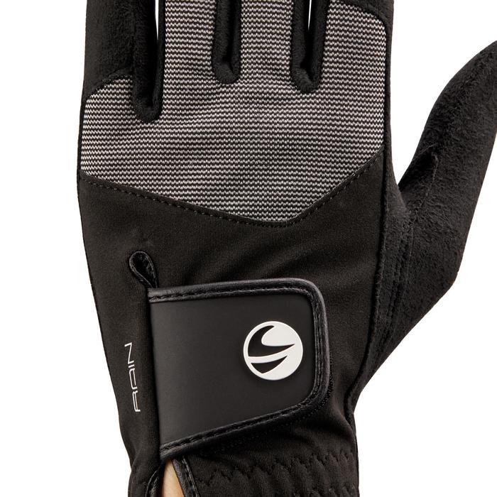 Gant de golf pluie femme droitière noir - 1506456