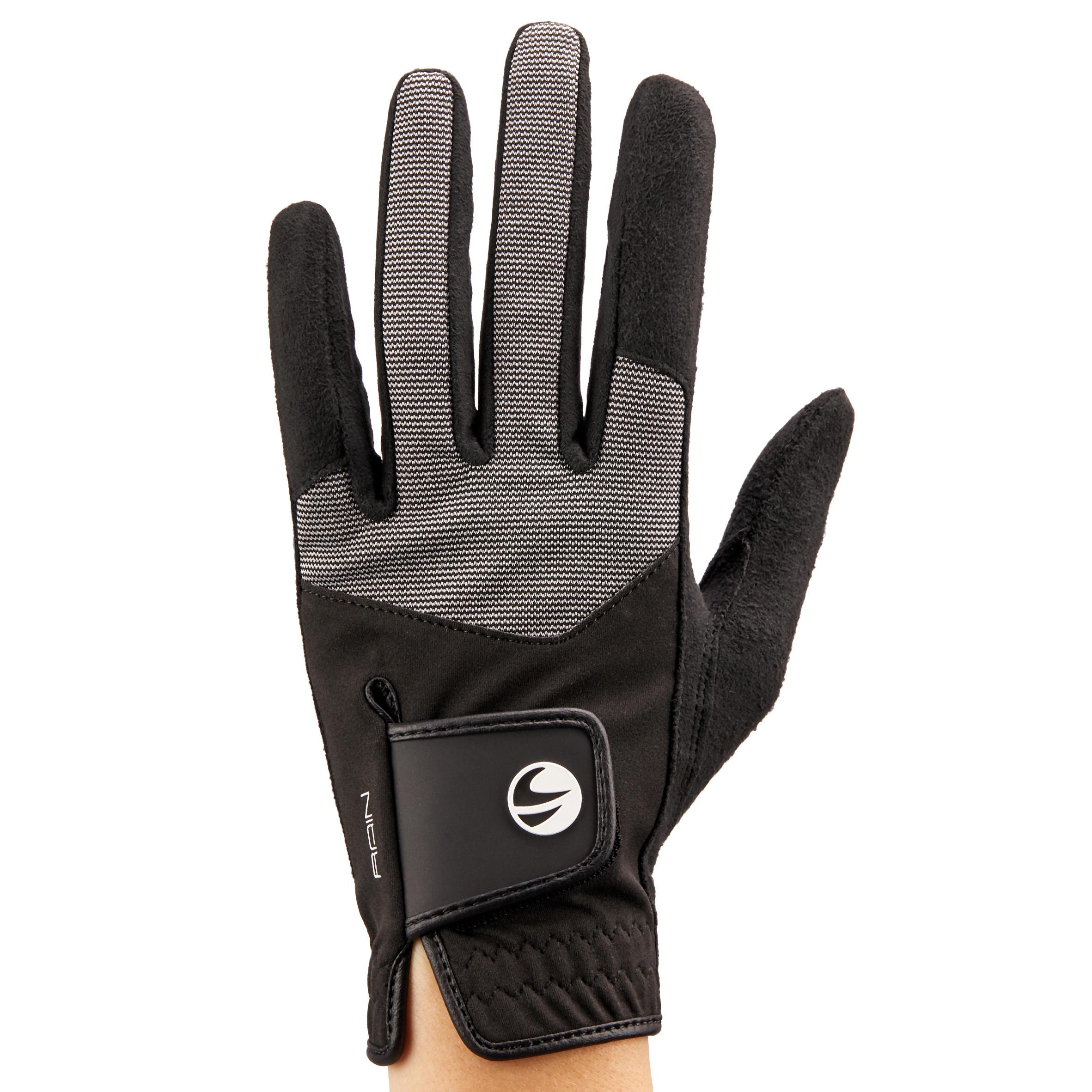 Inesis Golfhandschoen voor dames, rechtshandig, voor regenweer zwart kopen