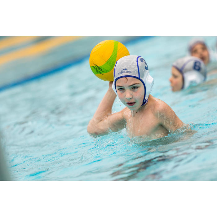 Bonnet water polo 500 junior easyplay à scratch vert