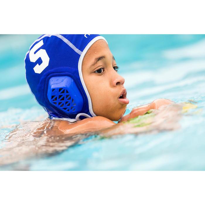 Wasserball-Kappe 500 Easyplay mit Klettverschluss Kinder schwarz