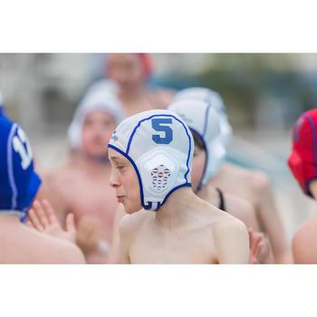 Bonnet water polo 500 junior easyplay à scratch blanc