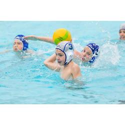 Waterpolobadmuts voor kinderen Easyplay met klittenband wit