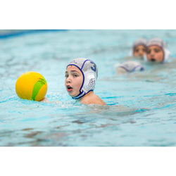 Bonnet water polo 500 junior easyplay à scratch blanc