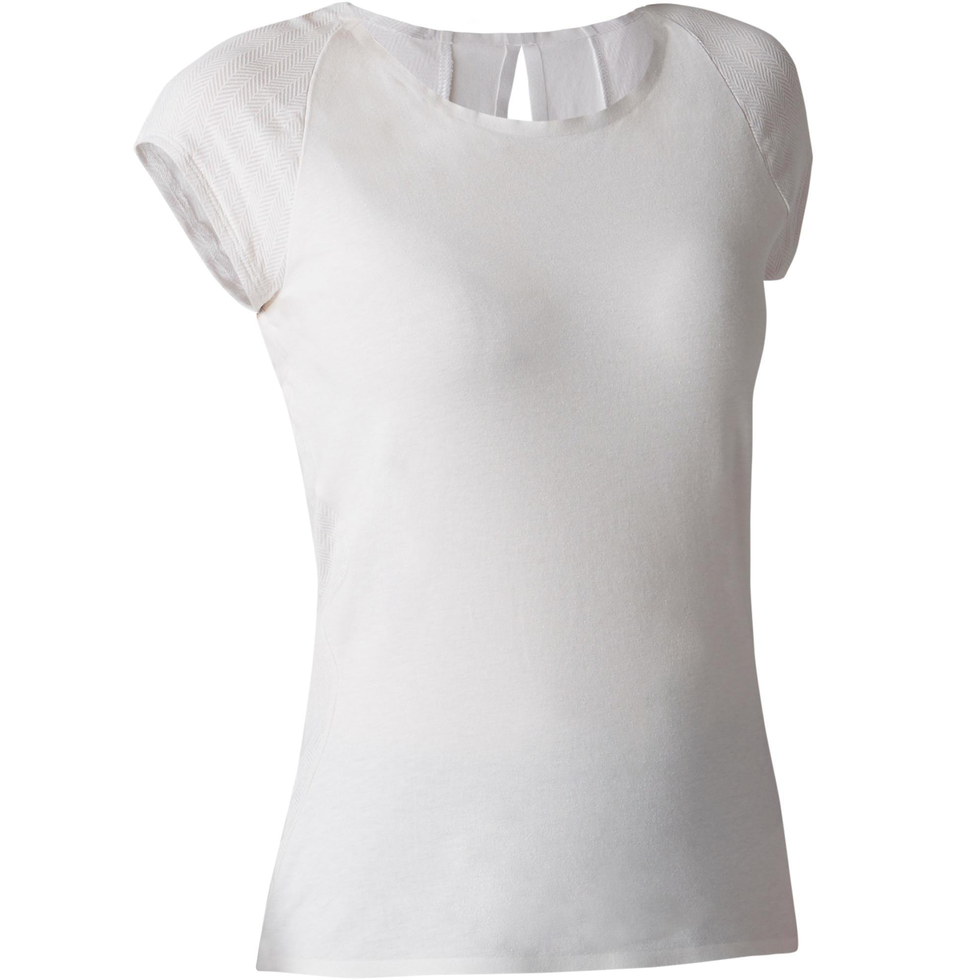 Domyos Dames T-shirt 900 voor gym, stretching en pilates