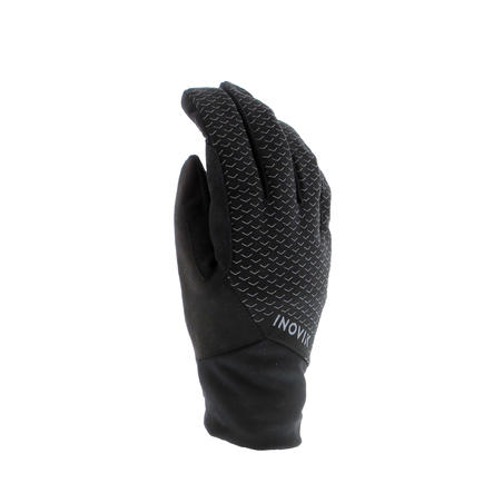 Adults' Cross-Country Skiing Warm Gloves 100 - Black