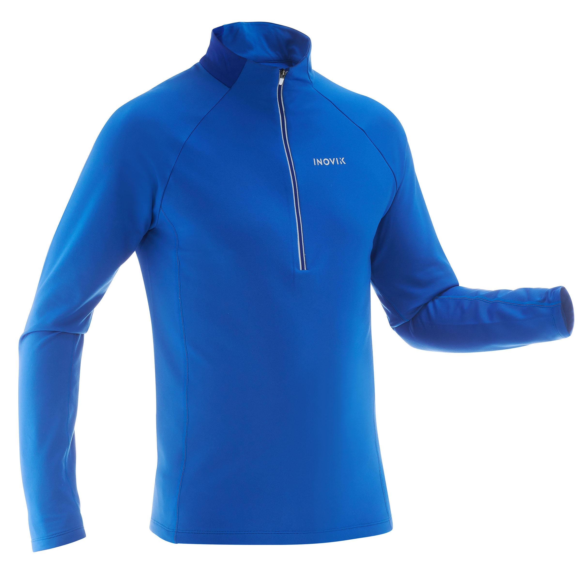 Inovik Warm heren T-shirt voor langlaufen XC S T-S 100 blauw