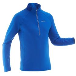 Tee-shirt chaud de ski de fond homme XC S T-S 100 bleu