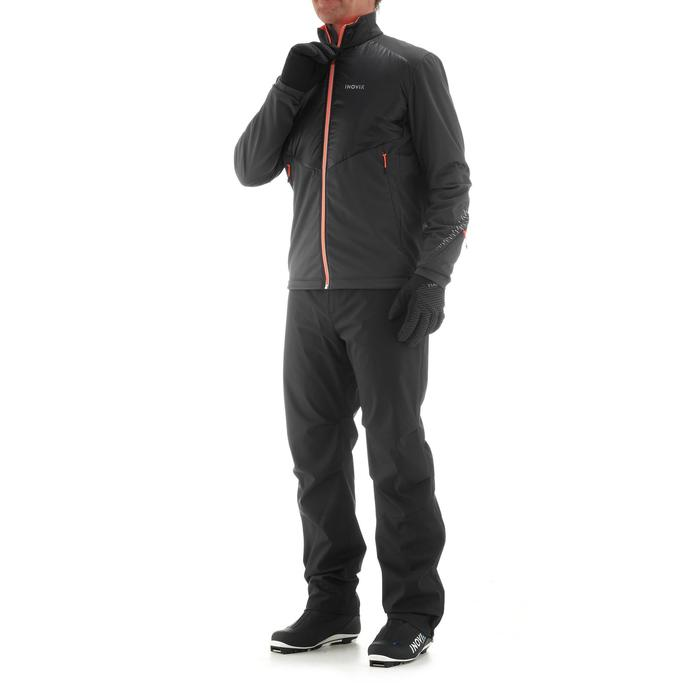 Warme langlaufjas voor heren XC S JKT 550 zwart