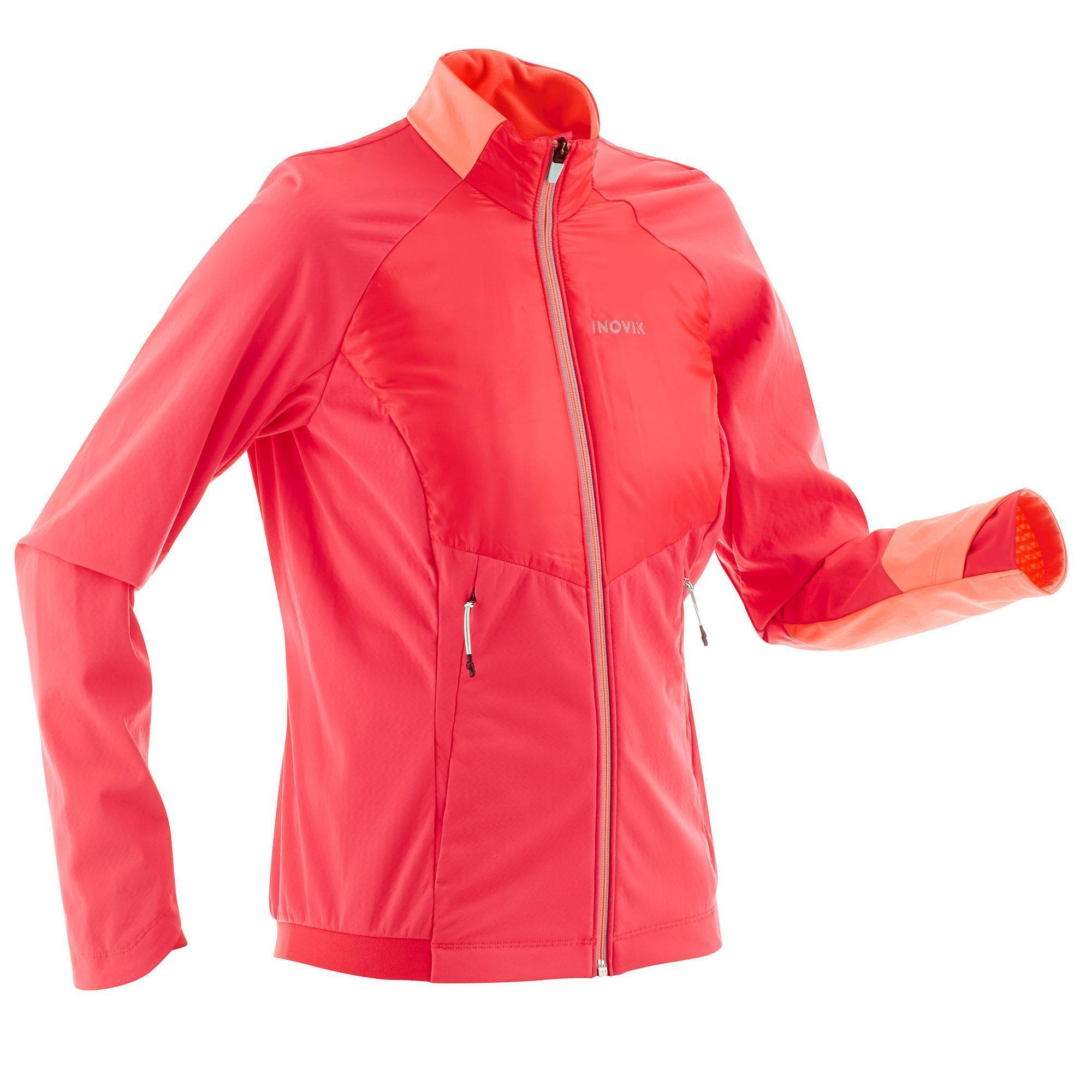 veste chaude de ski de fond femme xc s jkt 550 rose quechua. Black Bedroom Furniture Sets. Home Design Ideas