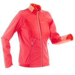 Chaqueta cálida de esquí de fondo mujer XC S JKT 550 rosa