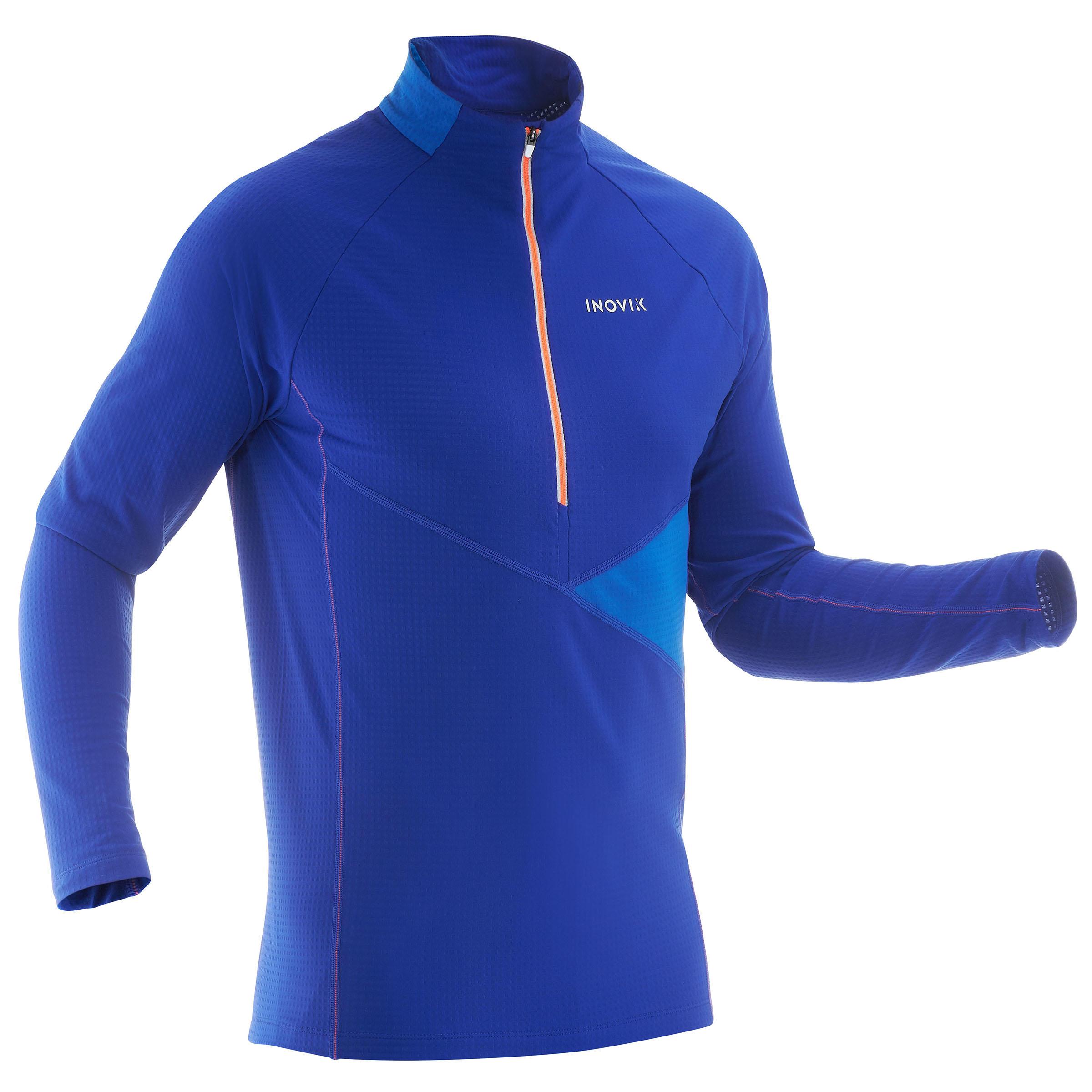 Inovik Licht heren T-shirt voor langlaufen XS S T-S 500 blauw