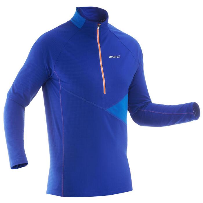Licht heren T-shirt voor langlaufen XS S T-S 500 blauw
