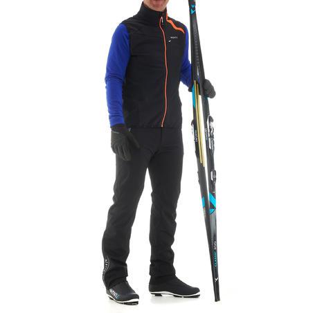 Gilet de ski de fond homme XC S VEST 500 noir