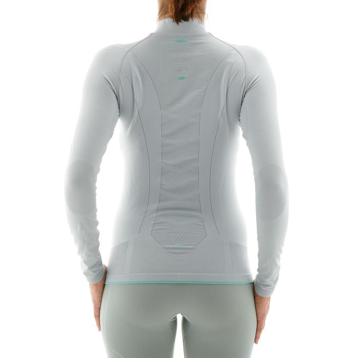 Tee-shirt technique de ski de fond femme XC S UW550 gris