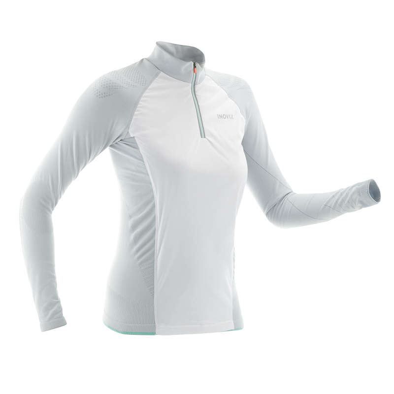 ADULT CROSS COUNTRY CLOTHING Cross-Country Skiing - XC S T-SHIRT CV 550_L GREY INOVIK - Cross-Country Skiing
