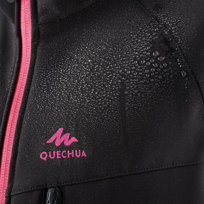 Softshell jas voor wandelen meisjes Hike 900 zwart